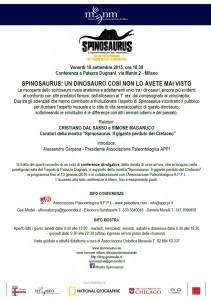 locandina spinosauro