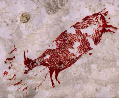 La piùantica scena di caccia nell'arte preistorica