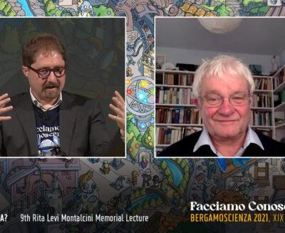"""""""Che cos'è la vita?"""" dialogo tra il premio Nobel Paul Nurse e Telmo Pievani a BergamoScienza"""